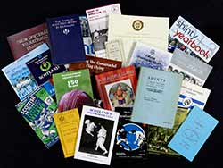 A selection of sport books from the Library's collections
