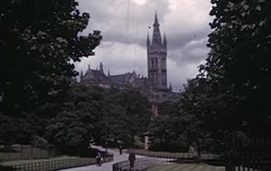 Film still showing Kelvingrove in 1950s
