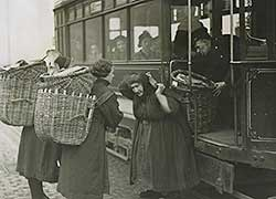 Old tram and fishwives